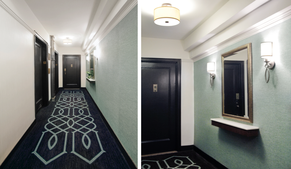 Pre-War Apartment Hallway Design - Silk Stocking District - Upper East Side Apartments, New York