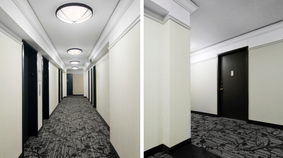 Post-War Residential Hallway Design - Yorkville, New York