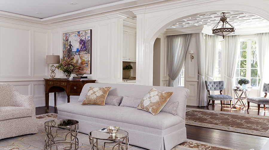 Living Room & Loggia Design - Westchester, New York