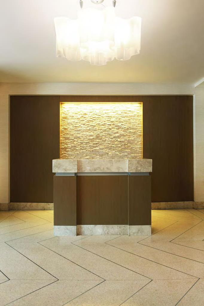 Sygrove Design, Marilyn Sygrove, Concierge Desk Design, Lobby Interior Design, Briar Oaks - Concierge Desk