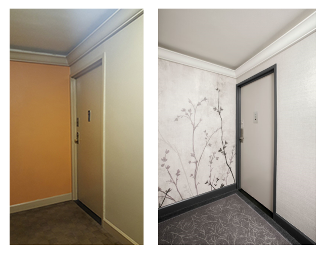 Newly designed hallway in NYC by Sygrove