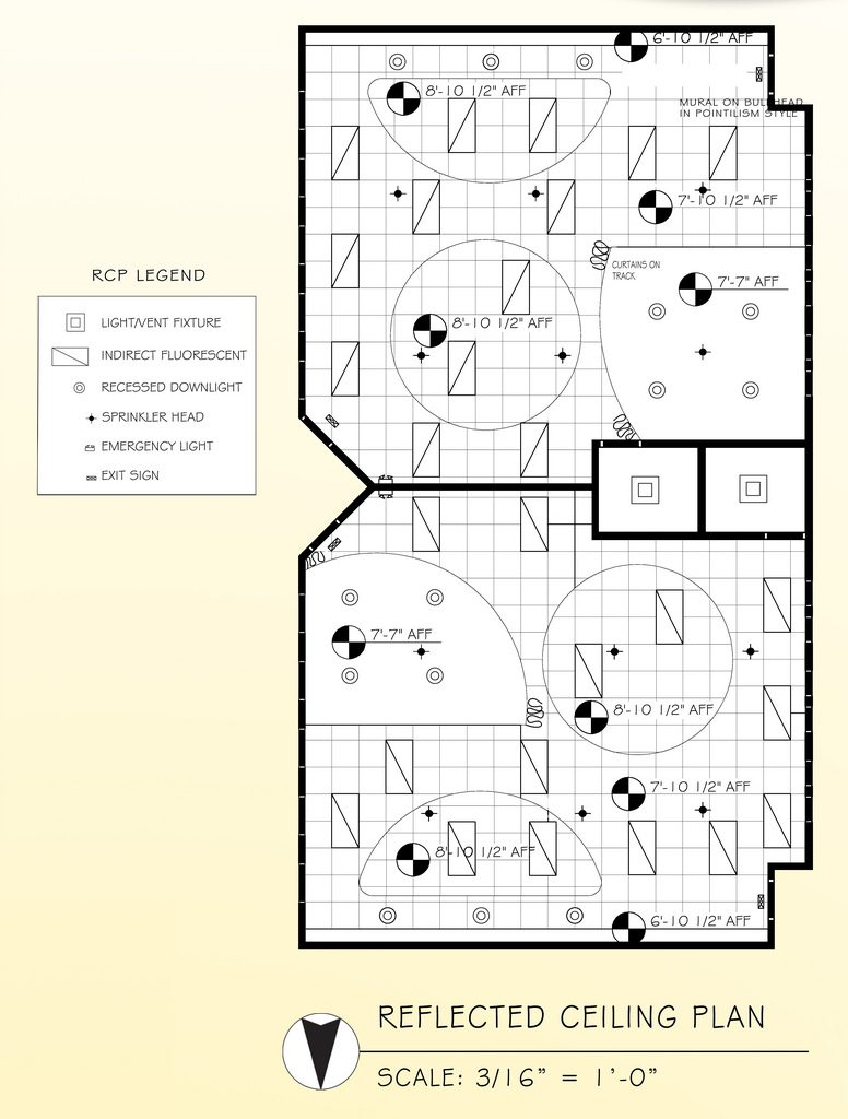 Interior Design Words-Reflected ceiling plan