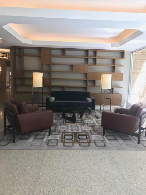 mid century lobby, nyc lobby interior design, marilyn sygrove